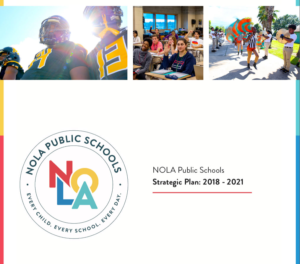 Front cover of NOLA Public Schools Strategic Plan FY 2018-2021